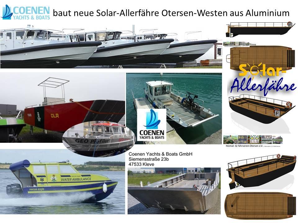 COENEN baut am Niederrhein die neue Solarfähre für die Aller