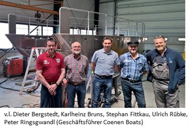 Fährleute in Kleve - Rechts: Peter Ringsgwandl