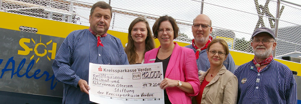 Sparkassen-Stiftung fördert neue Solar-Allerfähre_Hweb